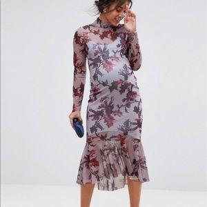 ASOS maternity peplum dress